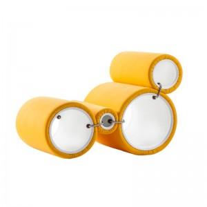 Butaca modular Tube Cappellini Amarilla