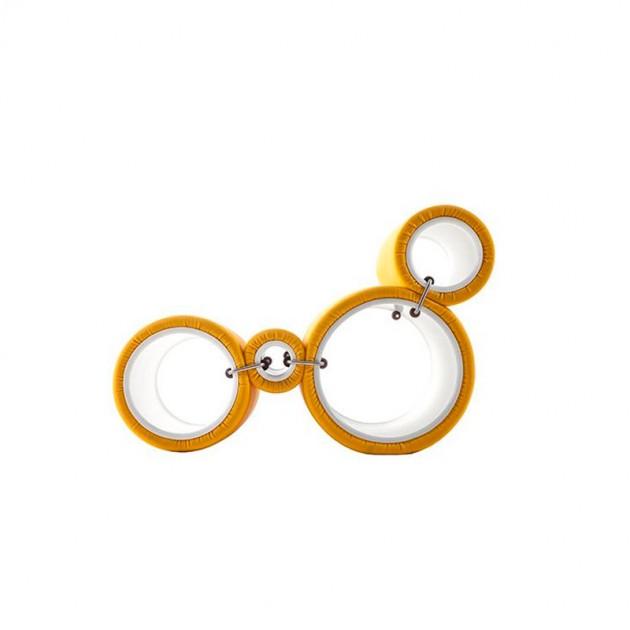 modulos Butaca Tube Cappellini Amarilla