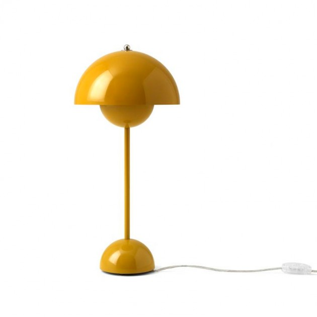 Lámpara de mesa Flowerpot VP3 mostaza