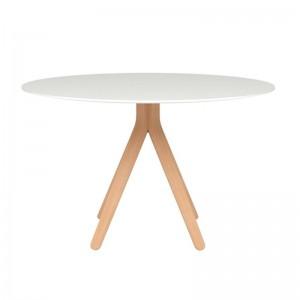 Mesa de comedor Nuez tablero lacado blanco Andreu World