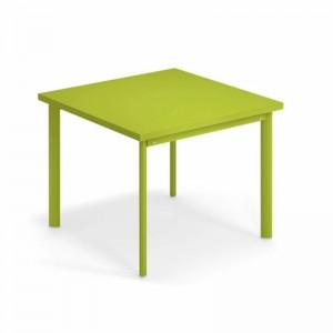 Mesa Star de exterior 90x90 Emu diseño verde