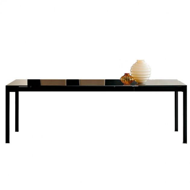 mesa de comedor Chat extensible negra Bonaldo