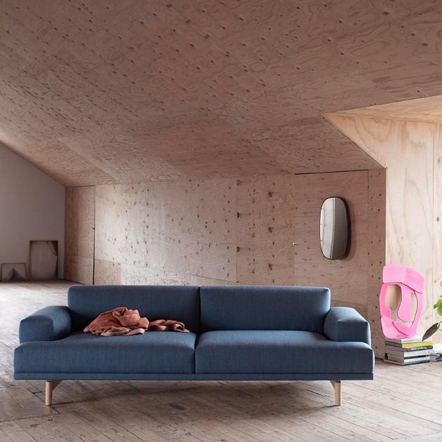 Ambiente sofá Compose 3 seater de Muuto tapicería Fiord 771 en Moises Showroom