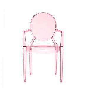 silla Lou Lou Ghost Kartell rosa