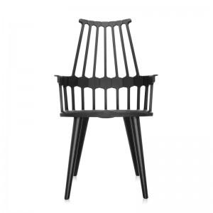 silla comback 4 patas negra Kartell