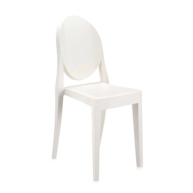 silla Victoria Ghost Kartell blanco brillante
