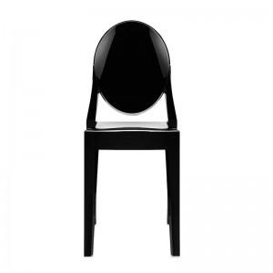 comprar silla Victoria Ghost Kartell negro brillante