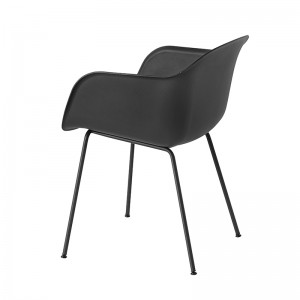 Silla fiber armchair tube de muuto color negro