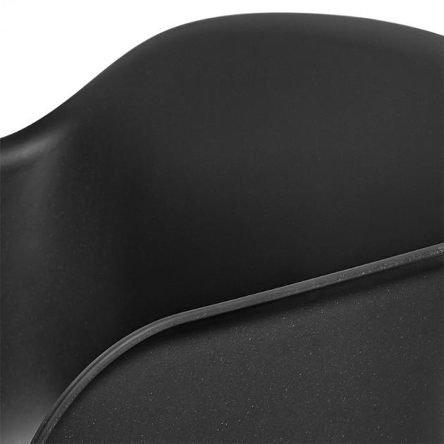 Silla fiber armchair tube de muuto - black