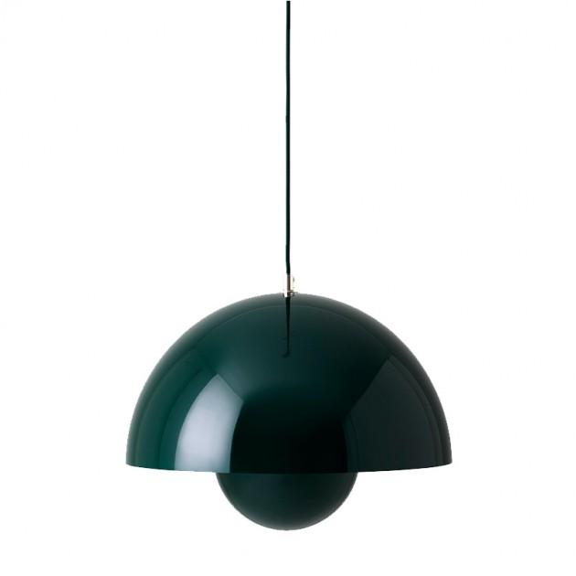 lámpara Flowerpot VP7 verde &tradition