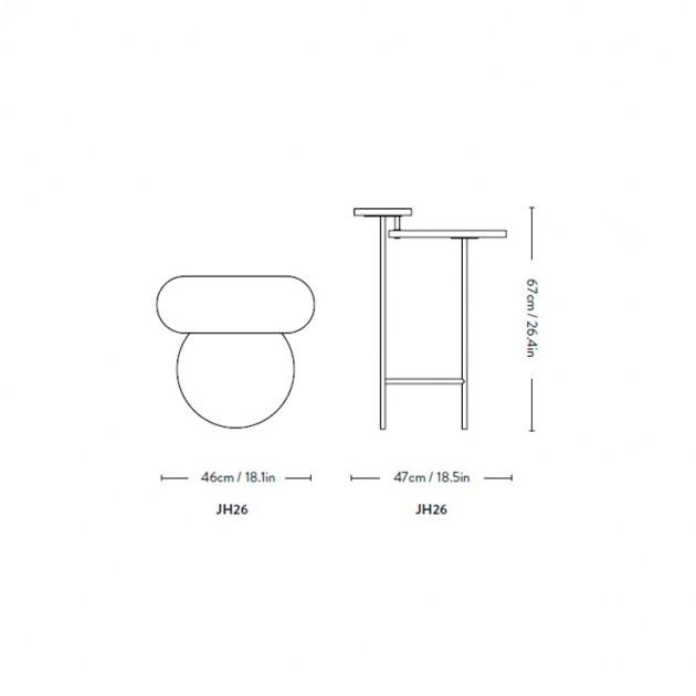 medidas mesa auxiliar Palette JH26