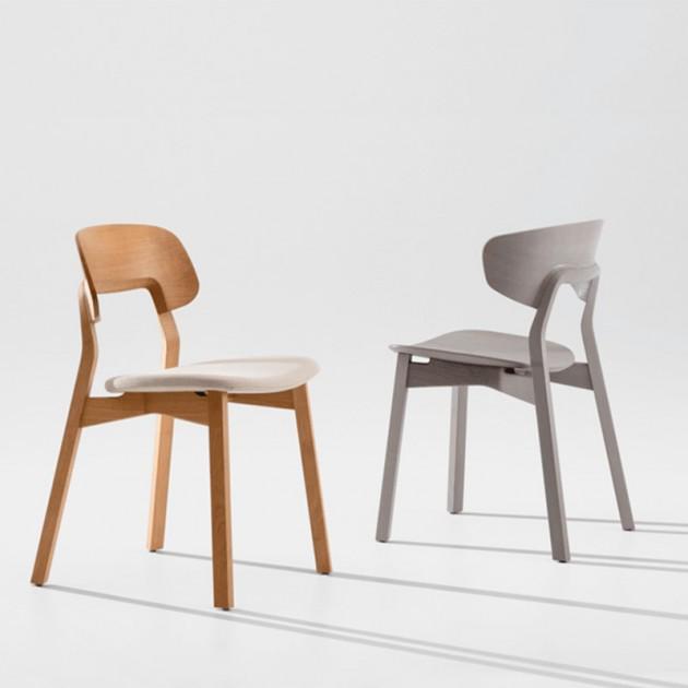 silla Nonoto roble y Nonoto Confort gris Zeitraum