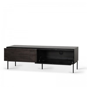 mueble de TV Grooves 1 puerta abatible y 1 cajón Ethnicraft