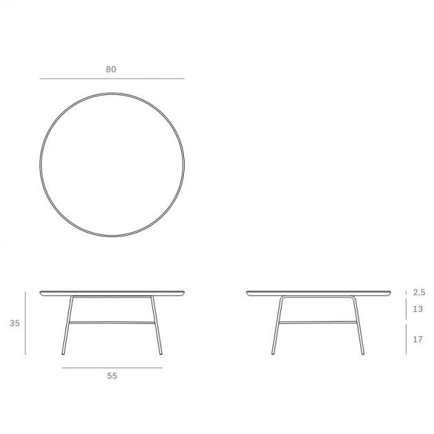 medidas mesa de centro Disc Ethnicraft