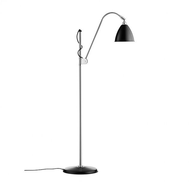 Lámpara Bestline BL3 Gubi diámetro 16 pie cromo pantalla negro mate