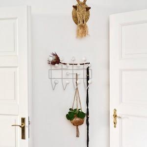 recibidor con perchero Vitra Hang it all marble