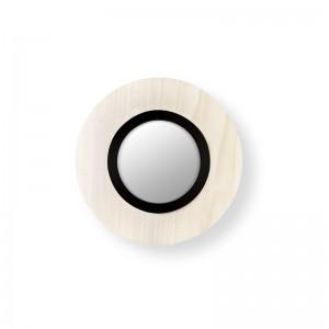 aplique circular Lens blanco negro LZF