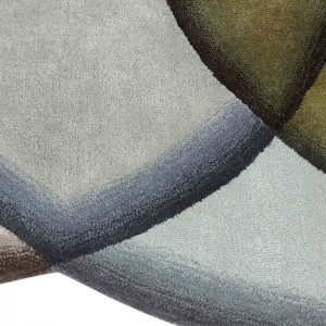 Detalle Crystal Neutral de Gan Rugs en Moises Showroom