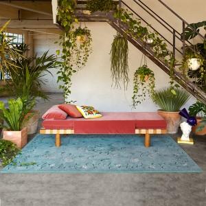 Ambiente alfombra Dreams White Daisy de Gan Rugs en Moises Showroom