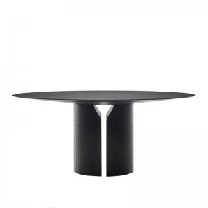 mesa comedor NVL redonda MDF Italia negra