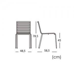 dimensiones silla Stripe Magis