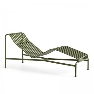 Tumbona Palissade lounge chair HAY verde oliva