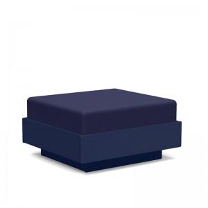 pouf ottoman Nisswa Loll designs azul navy tapizado Canvas navy