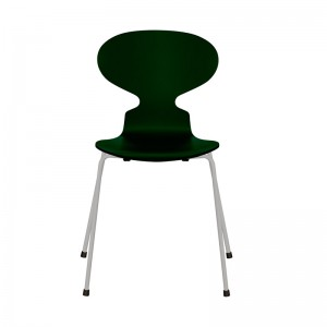 Fritz Hansen silla Ant lacada Evergreen base nine grey