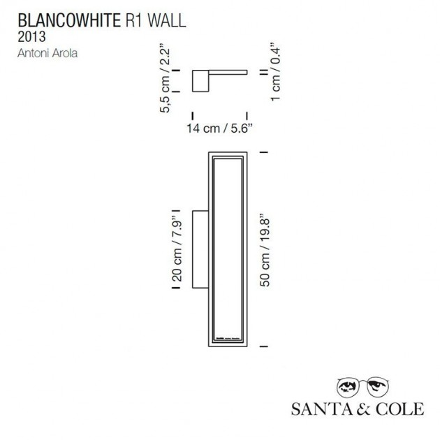 medidas aplique BlancoWhite R1 Santaycole