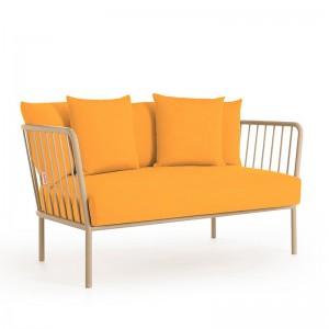 sofá 2 plazas de exterior Arp Diabla Urban mostaza