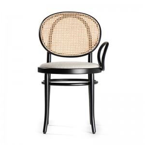 silla con brazo N.0 respaldo ratán lacada negro Thonet Vienna