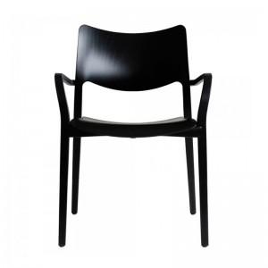 silla Laclasica con brazos negra Stua