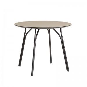 mesa comedor Tree diámetro 90 Woud beige/negro