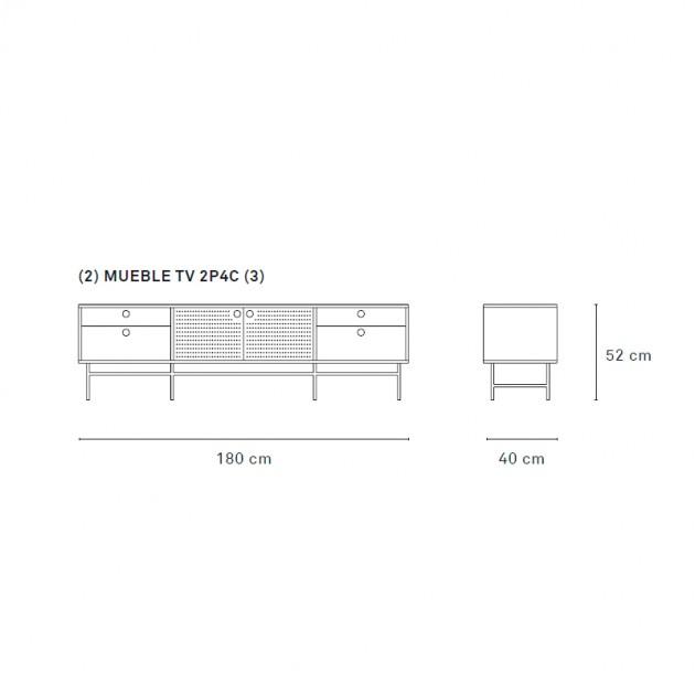 Teulat, Mueble Tv Punto en Moises Showroom