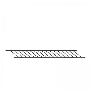 estante rejilla negro Tria Complements Mobles 114