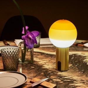 comedor lámpara Dipping light portable ámbar Marset
