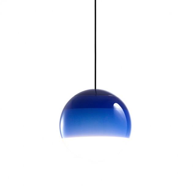 lámpara suspensión Dipping light azul Marset