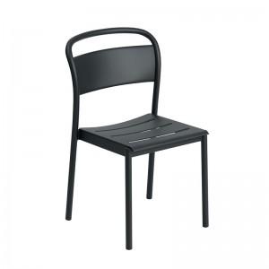 Silla Linear Steel de Muuto color negro en Moises Shworoom