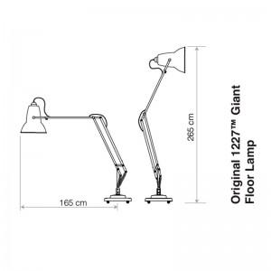 Lámpara Original 1227 Giant Outdoor Floor Lamp Anglepoise técnico