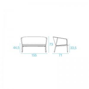 sofa 2 plazas Carousel Emu medidas