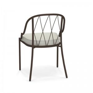 respaldo silla Como de exterior Emu hierro antiguo
