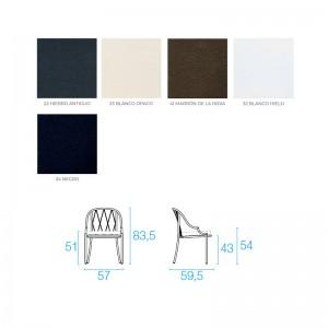colores y medidas silla Como Emu