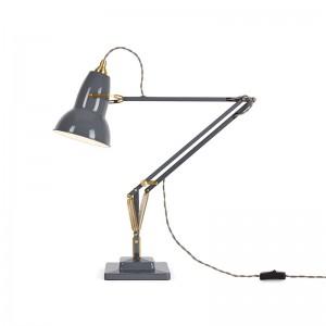 lámpara Original 1227 brass desk lamp Anglepoise grey