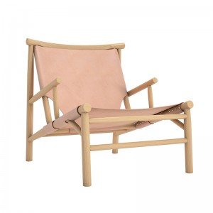 Butaca Samurai Chair de Norr11 roble natural piel natural