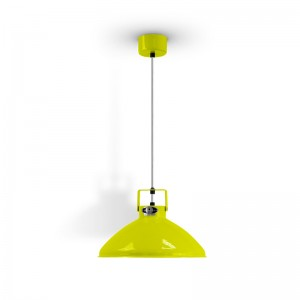 Jieldé lámpara suspensión Beaumont amarillo azufre