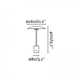 medidas lámpara portátil Hoshi Faro Barcelona
