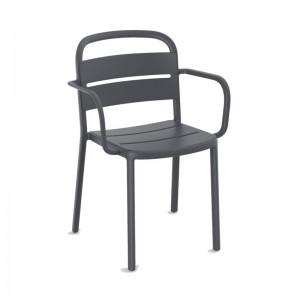 silla con brazos Como Barcelona Dd gris oscuro