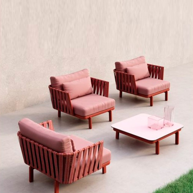 Easy chair Anthea Indecasa rojo