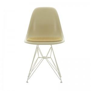 silla Eames Fiberglass DSR Vitra cojín asiento estructura blanca
