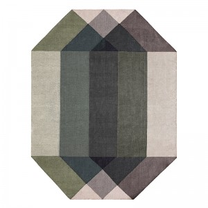 Kilim Diamond Green-Grey - Gan Rugs
